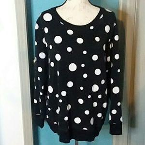 Jones New York Sport Sweat Shirt 2x Black White
